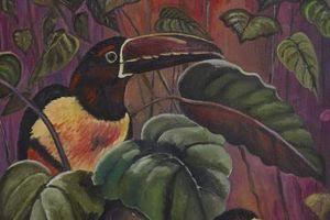 Comment peindre les oiseaux avec des plumes dans Acryliques