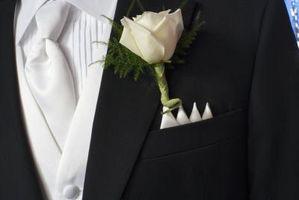 Comment fixer un mariage revers fleurs