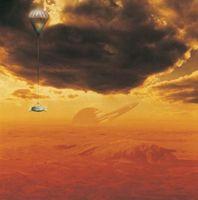 Les types de gaz sur une lune géante