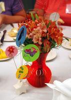 Idées pour l'anniversaire de table Centres