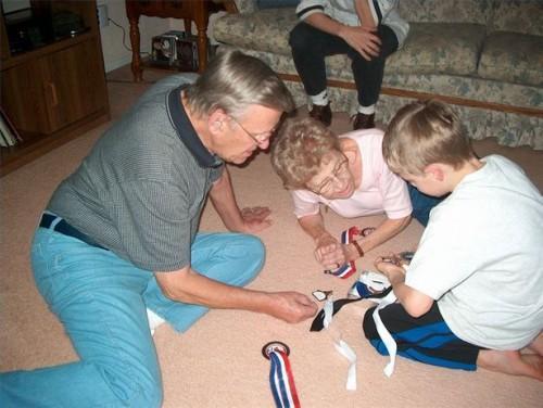 Cadeaux pour les grands-parents des petits-enfants