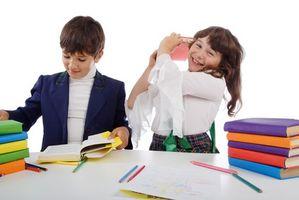 Activités scolaires primaires en classe