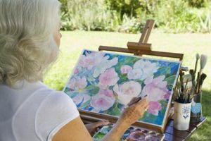 Comment peinture à l'eau Couleurs sur toile