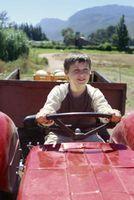 Jeux avec des tracteurs pour les enfants