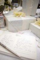 Etiquette pour les prix sur une liste de mariage