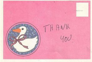 Comment écrire une note de remerciement ou Letter