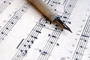 Comment écrivez-vous mots sur Sheet Music?