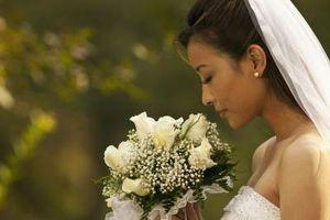 Coiffures de mariée avec une frange