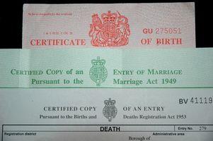 Comment modifier un certificat de naissance