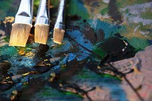 Comment nettoyer peintures à l'huile de graines de lin ou l'huile de térébenthine