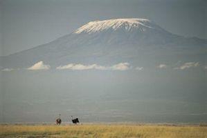 Quelle est la hauteur d'un volcan de taille moyenne?