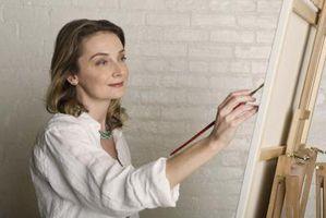 Comment faire une peinture noire sur une toile blanche