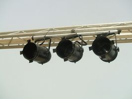 Différentes Instruments scène d'éclairage