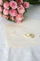 Invitations de mariage et les règles d'adressage