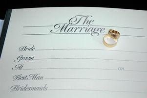 L'histoire de licences de mariage