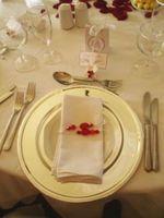 Tableau de mariage Carte d'endroit Etiquette