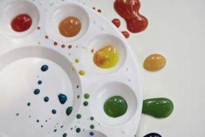 Techniques de la peinture acrylique pour mélange de couleurs
