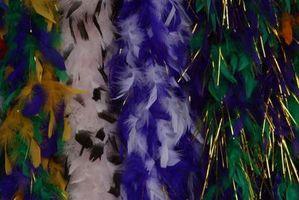 Invitations maison avec des plumes