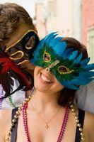 Handmade Mardi Gras Invitations