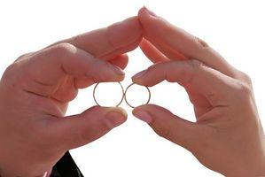 Comment les bandes de fiançailles et de mariage de travail?